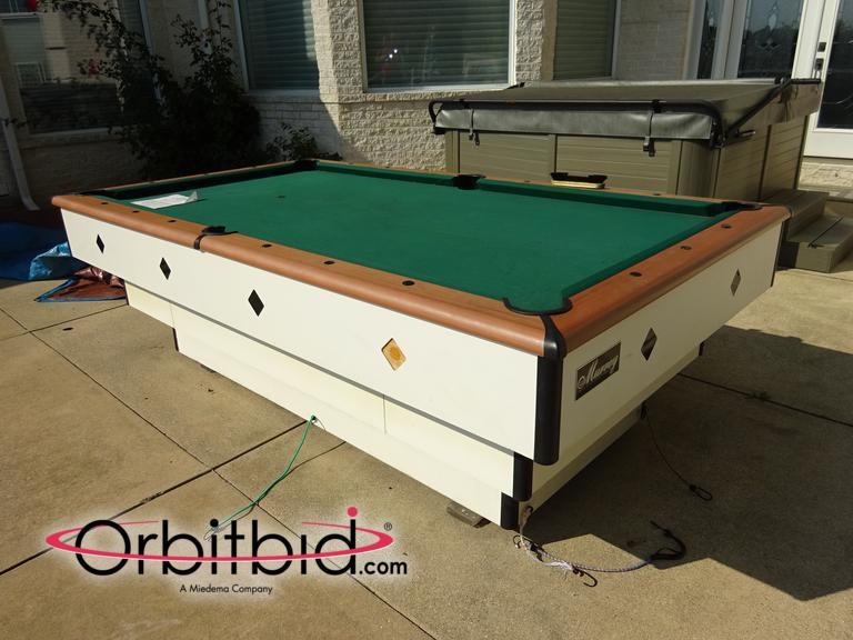 Orbitbidcom Murrey Approx Outdoor Pool Table With Manual - Murrey billiard table
