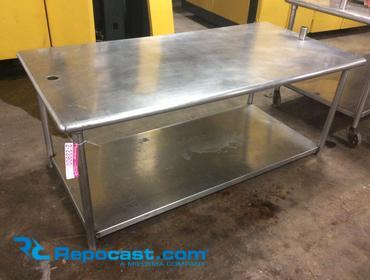 Repocastcom Stainless Steel Prep Table Lower Shelf Missing - 6 foot stainless steel prep table