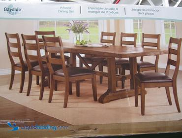 LiquidBidding | Bayside Furnishings 9-Piece Dining Set. Farmhouse ...