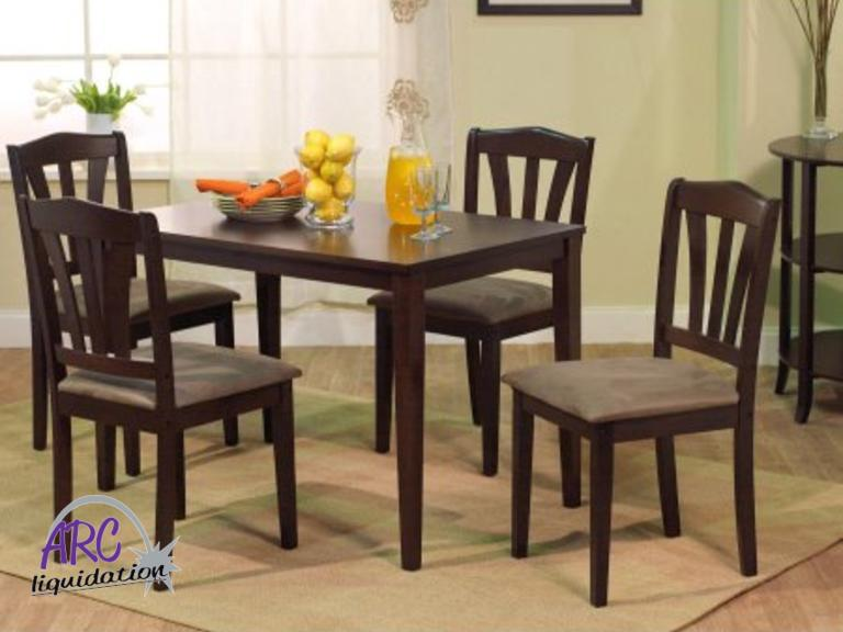Bon Arc Liquidation Group | Metropolitan 5 Piece Dining Set.