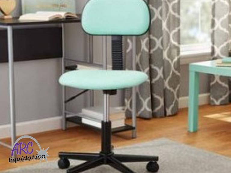 Mainstays Fabric Task Chair. NEW, Assembled. Color: Mint (more Of A