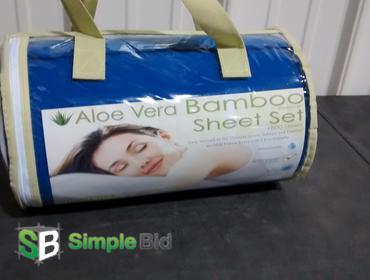 Simplebid Inc New Aloe Vera Bamboo Sheet Set 1800 Series Set