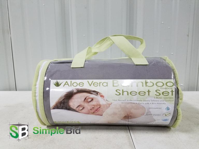 Simplebid Inc New Aloe Vera Bamboo Sheet Set Essence 1800 Series