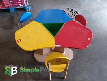 SimpleBid Inc. | Lego Table with (3) Chairs - Lego Tops come off and ...