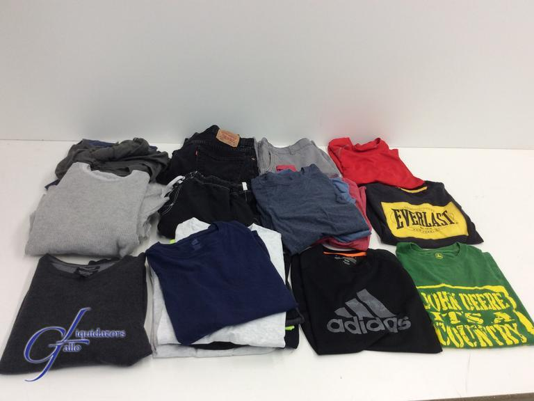 gallo liquidators assorted lot of men s clothing t shirts shorts