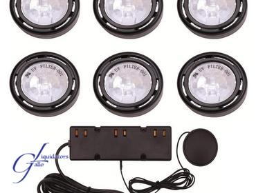 Gallo Liquidators | Hampton Bay 6 Light Xenon Black Under Cabinet Puck Light  Kit