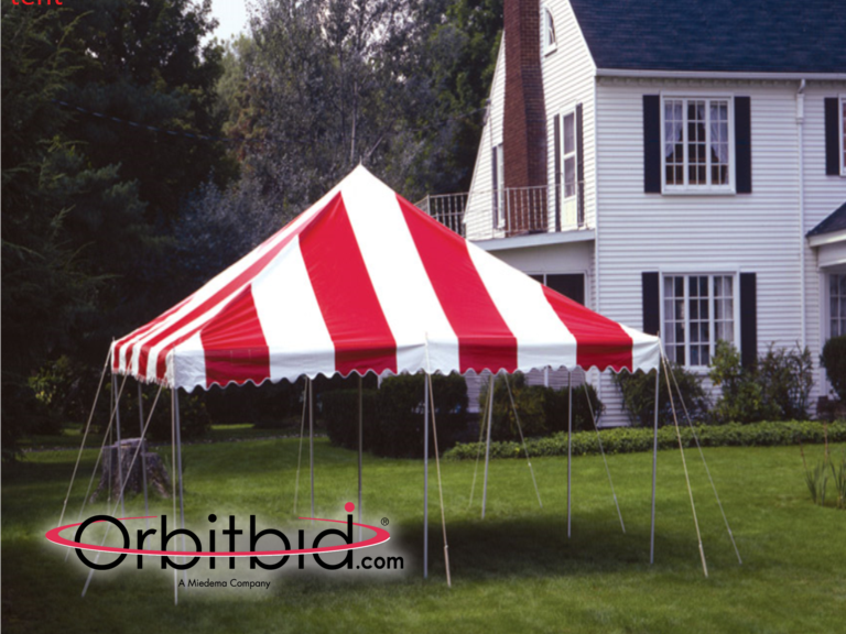 Orbitbid com® | (1) Eureka 20' x 20' red and white pole tent