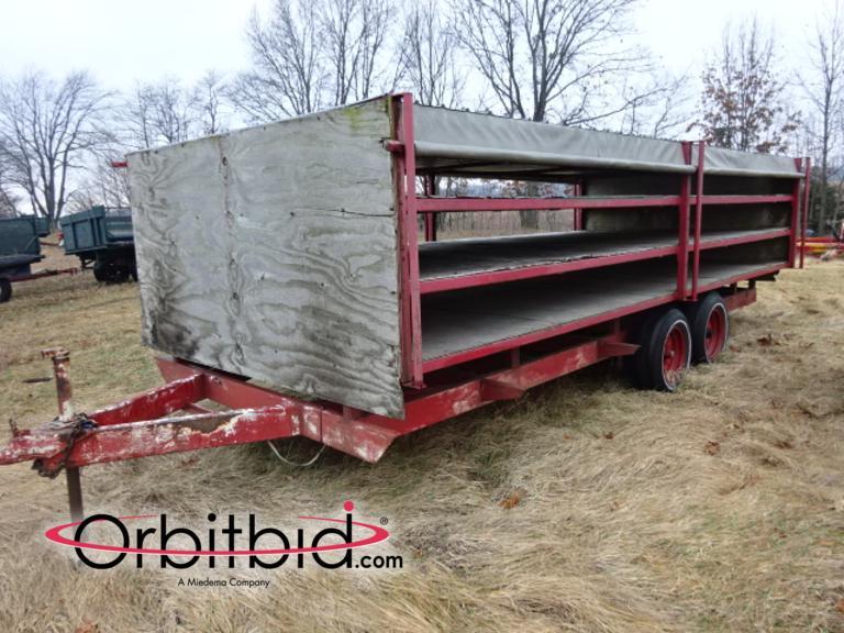 Orbitbid com® | (1) custom built, dual axle 18' long x 8