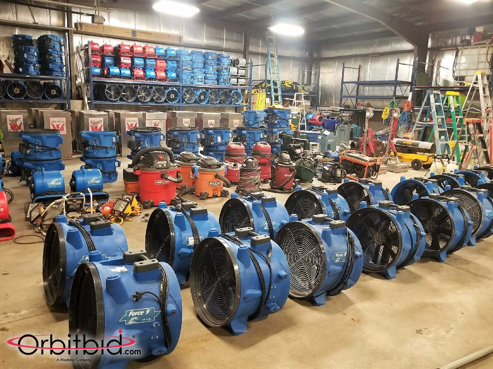 cleaning equipment auction