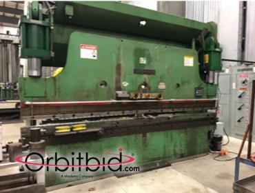 "Orbitbid com® | Cincinnati 230 Ton Press Brake, 10"" stroke"