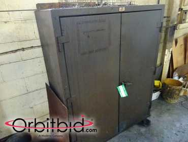 "(1) Strong Hold 48"" two door cabinet."