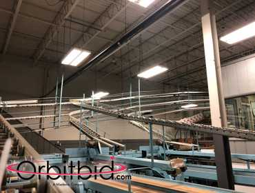 "12"" x Approx. 54' (Total Length) Ceiling Mounted Gravity Roller Conveyors; Buyer responsible for..."