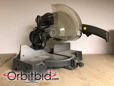 "(1) Sears Craftsman, model 113.234600, 10"" compound miter saw with 3 HP electric motor, S/N..."