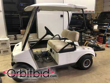 GOLF CART-Electric Club Car(white)Brand new batteries & cables, new charger, works great,...