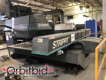 (1) Strippit, model 1250 SX-P/30, turret punch machine with a GE Fanuc control station, S/N...