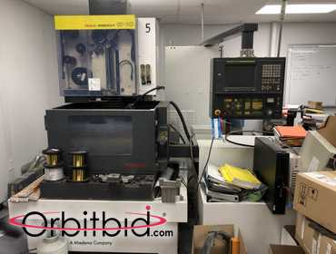 (1) Fanuc Robocut Infinity-1C EDM/controller with Fanuc Series 16-W control unit that has push...