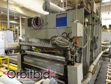 (1) Wemhoner model KT-B-1E heated pass-through Platen Press, S/N 1-98-2003-50-0898, (1998),...