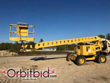 1995 Grove AMZ66XT Rough Terrain Man Lift, SN:33370, 66' working height, four-wheel steer, Deutz...