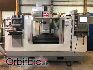 (1) Haas, model VF3-B vertical machining center, S/N 31499 manufactured in 2003-24-tool capacity...