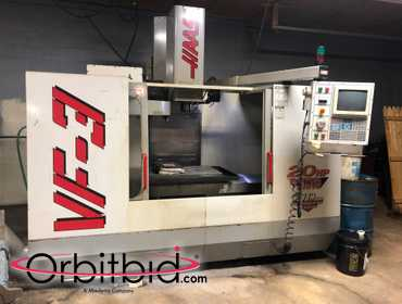 (1) Haas, model VF3, vertical machining center, manufactured in 1999, with Haas control unit,...