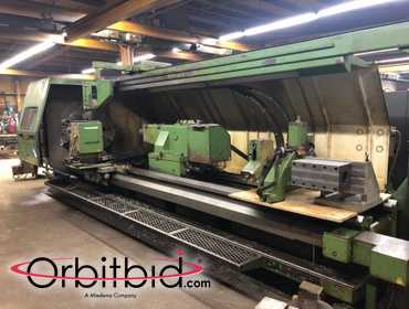 "(1) Dainichi model M 105 x 400 40"" x 170"" Flatbed CNC Lathe,  S/N 25943, manufactured in 1994,..."