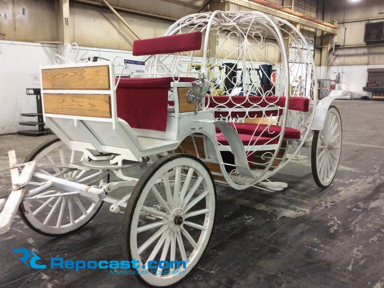 Cinderella Horse Carriage Brand Name Les Voitures Robert Inc. Front Wheel Steer, 4-Seater, Wooden...