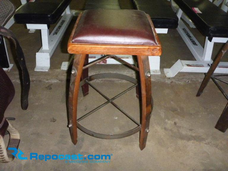Swell Repocast Com Wine Barrel Stave Stool With Leather Seat Pdpeps Interior Chair Design Pdpepsorg