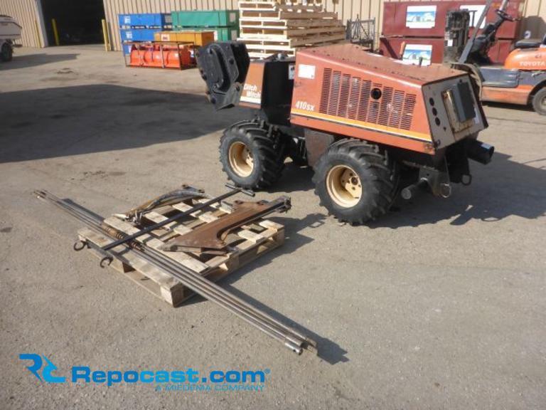 Repocast com® | 1999 Ditch Witch 410SX Vibratory Plow with Hydraulic