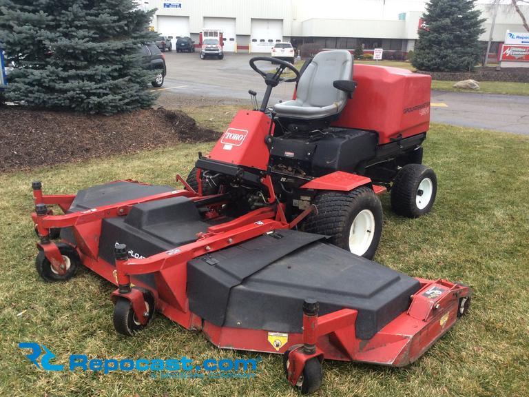 Repocast com® | Toro Groundsmaster 455-D lawnmower, 1,516 hours