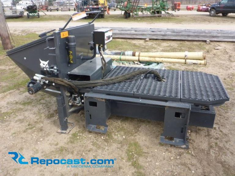 Repocast com® | Bobcat Concrete Pump Skidsteer Attachment, S