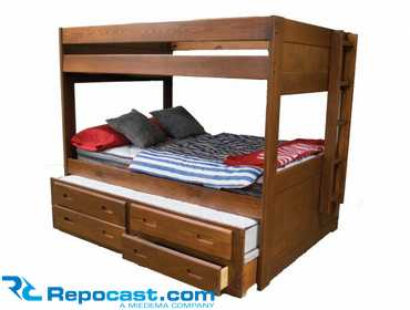 Repocastcom New American Trundle System 2 Full Size Bunk Beds