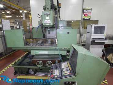 "OKK Model MHA 400 II CNC Bed Mill, 17 11/16"" x 43 ¼"" Table Table Dimensions	43 ¼"" x 17 11/16""..."