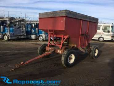 10'L x 6'W gravity wagon with Kory Farm Equipment 10 ton running gear Model 6072, manual grain...