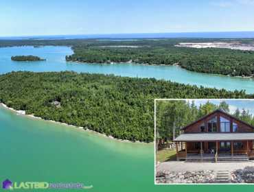 Private Island and Lodge on Grand Lake in Presque Isle, MI