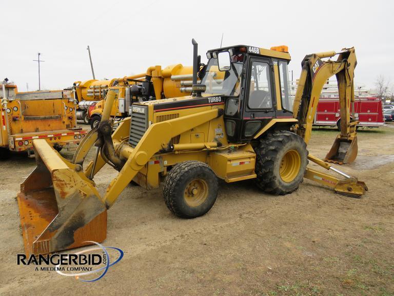 RangerBid com   2000 Caterpillar 446B Loader Backhoe (2 wheel drive)