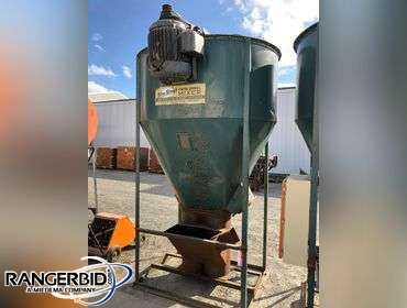 "Blue Streak 2-Ton Twin Spiral Mixer, with motor. Overall approx 66"" x 6' x 117"" tall. Stored inside"