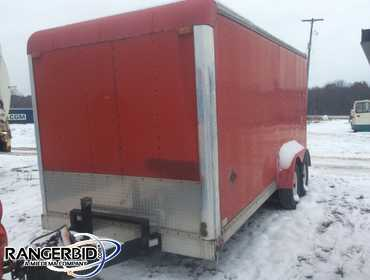 1997 Car Mate Enclosed tandem axle trailer 18'