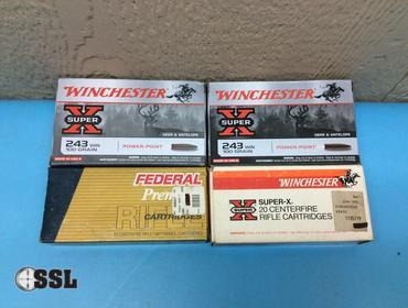 SSL Firearms | Approx  (80) Rounds of  243 Winchester 100