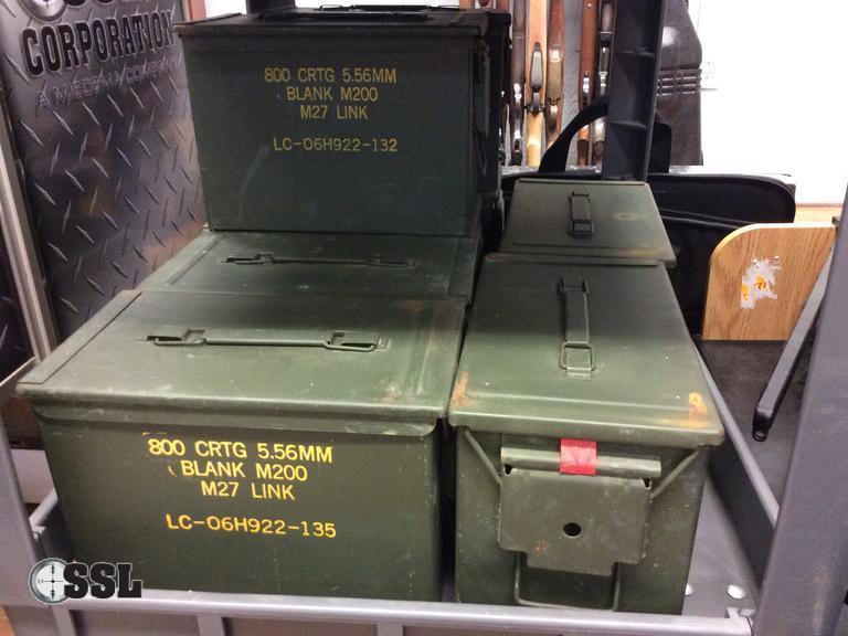 SSL Firearms   Lot of (8) Empty Fat 50 Ammo Cans (US