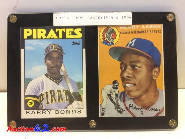 Auction62com 1954 Hank Aaron Rookie Card And 1986 Barry Bonds