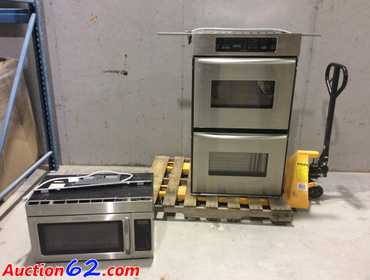 Auction62 Com Kitchenaid In Wall Double Oven And A Matching