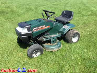 Auction62 com | Lawn General Riding Mower  38-inch Deck, 13
