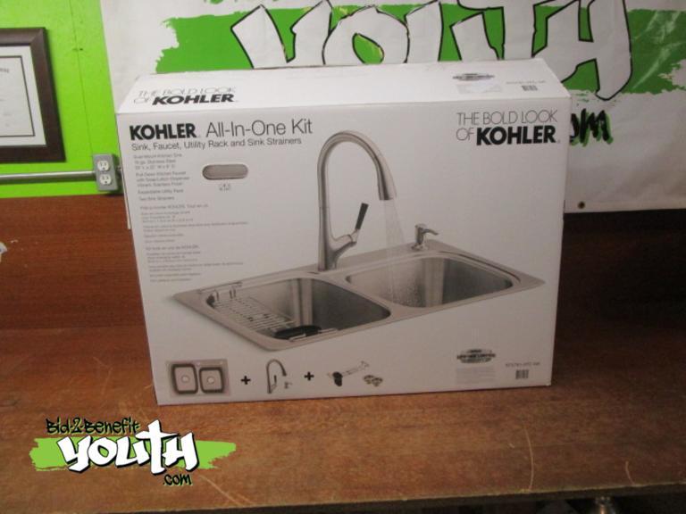 Bid 2 Benefit Youth Com New Kohler All In One Kit Sink