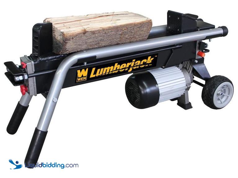 WEN 6 Ton Electric Horizontal Log Splitter, equipped with a powerful 2 hp motor with 12000 lbs of...