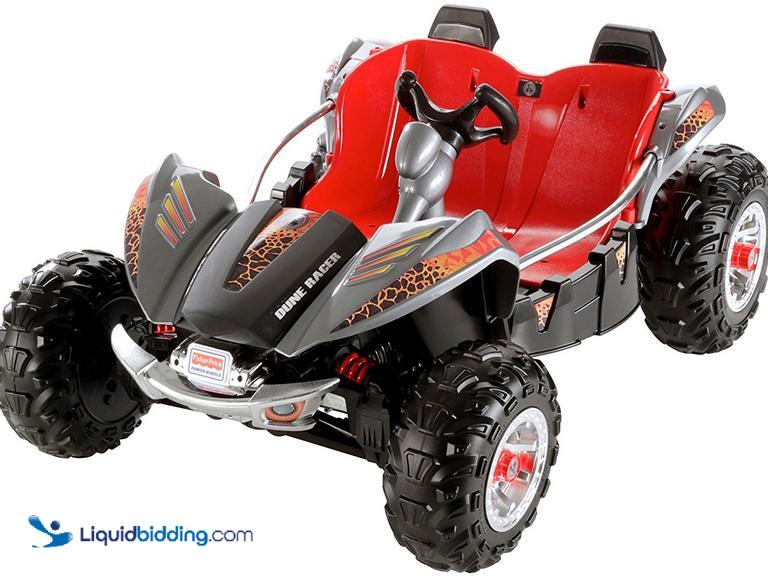 Fisher-Price® Power Wheels™ Dune Racer.  Lava red/black, monster tractions system drives on rough...