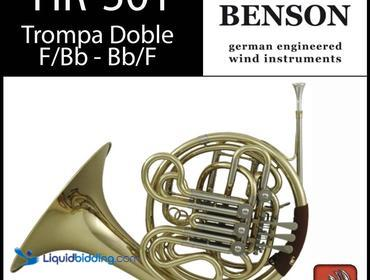 Roy Benson HR-501 Double French Horn Wind Instruments, F/Bb With Mouth Piece, New , Tested, Works...