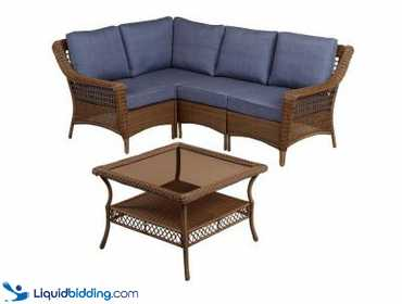 Cool Liquidbidding Hampton Bay Spring Haven Wicker Patio Cjindustries Chair Design For Home Cjindustriesco
