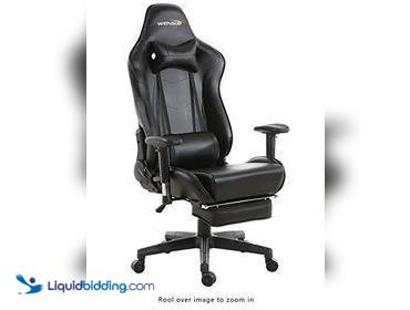 Wensix Black office Chair, Opened to Verify, New, Verified by: SN, ref#BXT1811
