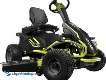 "Ryobi Electric 38"" Riding Lawn Mower  Tested/Works, See 2nd pic for youtube video Ref# SA0510 *"