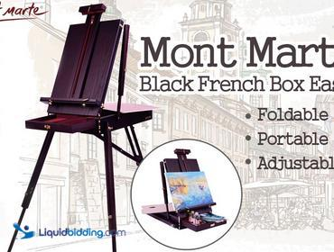 LiquidBidding | Mont Marte Black French Box Easel